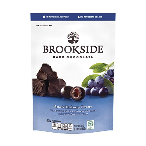 BROOKSIDE Holiday Dark Chocolate Candy Gift, Acai & Blueberry, 21 Ounce Bag