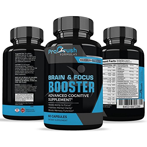 Brain & Focus Nootropic Supplement – Revolutionary Formula That Improves Mental Clarity & Focus. Boosts Intelligence Levels & Memory Function. Increases Level of Concentration & Alertness by ProCrush