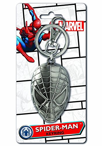 Marvel Marvel Spider-Man Head Metal Pewter Silver Key Ring Novelty Character Accessories