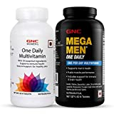 GNC Mega Men One Daily Multivitamin (Iron Free) (60 Caplets) and Women's Ultra