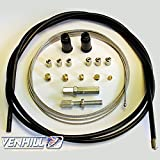Venhill U01-4-101-BK Universal Motorcycle Throttle Cable Kit - 5mm OD