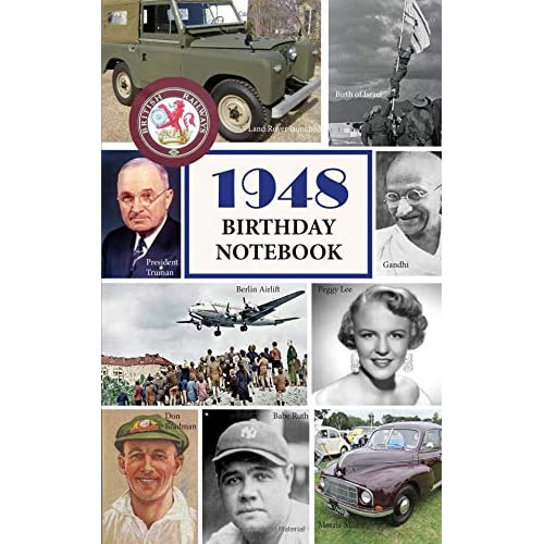 1948 Birthday Notebook A Great Alternative To Card