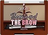 got2b Brow Powder Palette Medium Brown, Augenbrauen Set mit Augenbrauenwachs zum Formen der Brauen &...