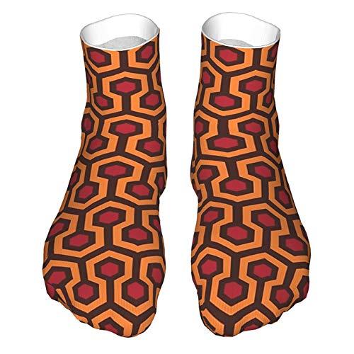 Erwachsene Socken, Low-Cut Socken, Freizeitsocken, atmungsaktive Sportsocken, Unisex 30cm - The Shinning - Overlook Hotel Teppich Muster