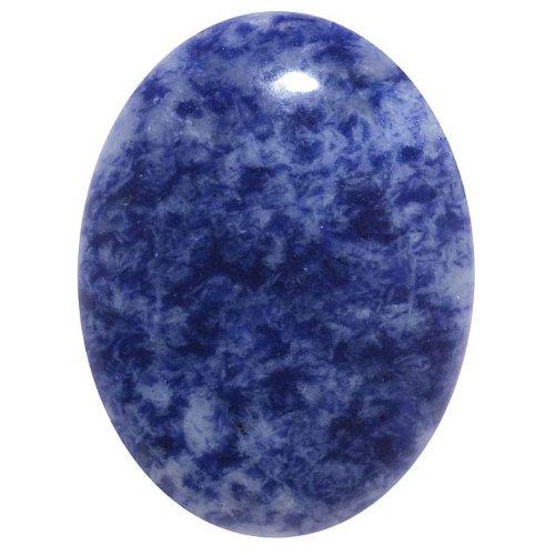 beadaholique fabric glues Beadaholique Blue Sodalite Gemstone Oval Flat-Back Cabochon 40x30mm (1 Piece)