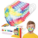 50 PCS Kids Rainbow Disposable Face Mask,50 Pack 3-Layer Facial Cover Masks with Elastic Ear Loops, Comfortable Universal Design for Kids Children (Child, Rainbow Color)