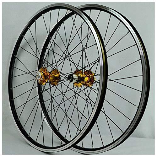 MTB rueda de bicicleta de 26 pulgadas conjuntos de rueda de bicicleta de doble pared aleación de la aleación de la rueda de cassette de la pluma del cubo de la plaga de la pluma de la pluma de la plum