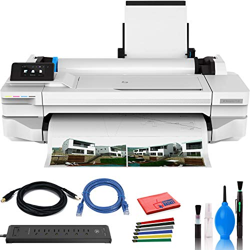 Find Discount HP DesignJet T130 24 Large Format Printer - Color Ink Jet - (#5ZY58A#B1K) with Power ...