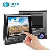 AZDOME GPS Dashcam 1080P mit 3' OLED Touchscreen, 170° Weitwinkelobjektiv, Loop-Aufnahme, G-Sensor, Parkmonitor und infrarote Nachtsicht Autokamera Auto Dashcam KFZ(M05)