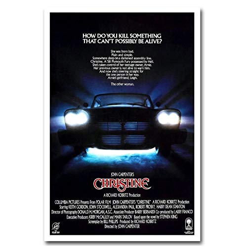 Christine 1983 Classic Vintage Movie Film Art Poster Wall Canvas Painting Art Poster Print Home Wall Living Room Decoración -20x28 pulgadas Sin marco