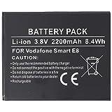 Batería para Vodafone Smart E8, Ion de Litio, 3,8 V, 2200 mAh, 8,4 WH