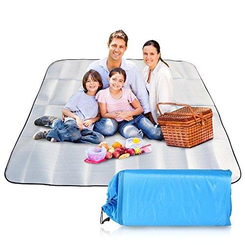 XY&CF 200 x 200 cm couverture de pique-nique tapis doux rempli de laine et imperméable à l'eau support de sable grande plage tapis de camping en plein air (Couleur : C)
