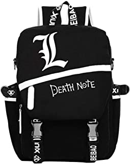 Gumstyle Death Note Anime Cosplay Luminous Laptop Backpack Rucksack Schoolbag Book Bag Unisex Student Black