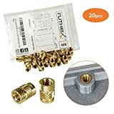 ruthex® inserto filettato M8 (20 pezzi) | Boccole filettate in ottone RX-M8x12,7 | Dado a...