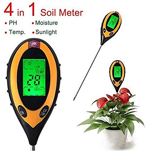 Pkfinrd Digitale vochtmeter vloer water pH-temperatuur zonlicht licht licht en vochtigheidsmeter tester bodem hygrometer tuingereedschap thermometer
