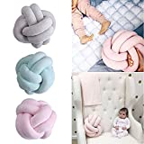 Ruimin 1pc 18 x18cm Handmade Creative Knot Cushion Knotted Ball Pillow North Europe Style Innovative Home Baby Sweet Pillow