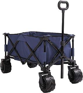 Patio Watcher Collapsible Wagon Folding Utility Wagon Cart Beach Outdoor Garden Camping Sports All Terrain Wagons Heavy Du...