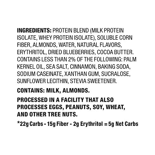 Quest Nutrition Blueberry Muffin Protein Bar, High Protein, Low Carb, Gluten Free, Keto Friendly, 12 Count
