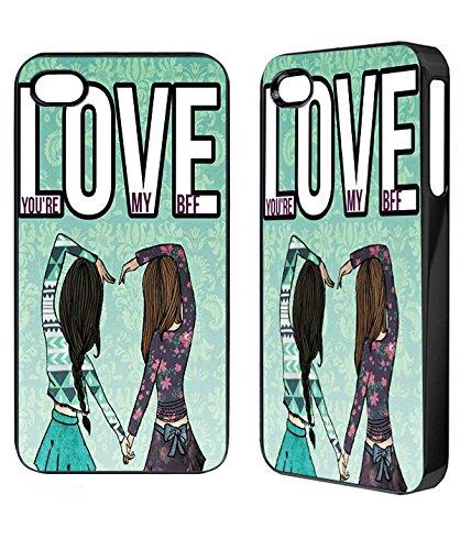 Love You'Re my BFF Samsung s3 s4 iPhone 4 5 5C 5S iPod 4,5 Mini Caso de la Cubierta del teléfono (iPhone 5c)