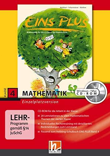 EINS PLUS 4. Ausgabe Deutschland. Lernsoftware für die Klasse: Einzelplatzversion. Klasse 4 (EINS PLUS (D) / Mathematik Grundschule)