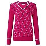 Callaway Jacquard Sweater Jersey de Golf, Mujer, Rosa, L