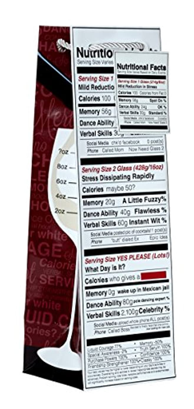 Jillson Roberts 6-Count Humorous Wine and Bottle Gift Bags Available in 5 Different Designs, Nutritional Facts