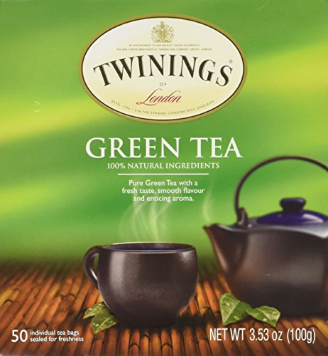 Twinings Tea – All Natural, Certified Kosher Green Tea Bags – 50 Count