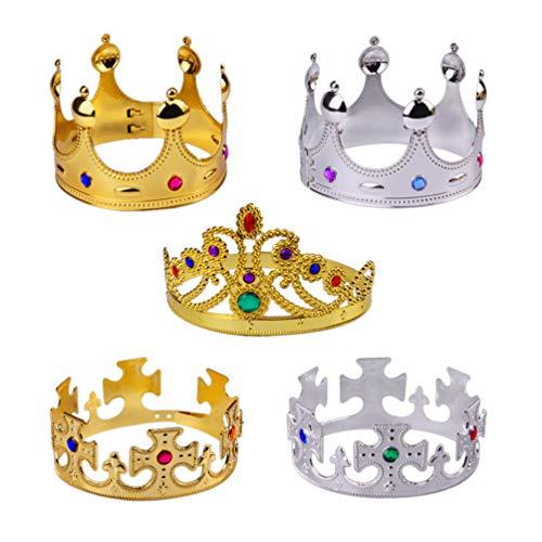 Hemoton Oro Plata Fiesta Reina Corona Real Rey Coronas Antig