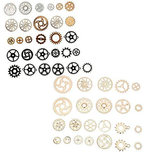 Colgantes de engranaje para joyería y accesorios de bricolaje