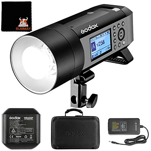 Godox AD400Pro 2.4G HSS 1 / 8000s TTL 400WS GN72 All-in-One Profesional Flash con Sistema Remoto Inalámbrico para Sony Canon Nikon Olympus Fujifilm
