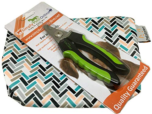 Dog Nail Clippers - Stainless Steel Claw Cutters for Dogs with Safety Lock to Avoid Over-Cutting