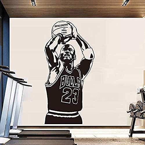 Adesivi Murali Adesivo Murale Vivaio Nba Michael Jordan Of Basketball Adesivo Murale Per Camera Adesivo Decorazioni Per Camera Da Letto 43X89 Cm