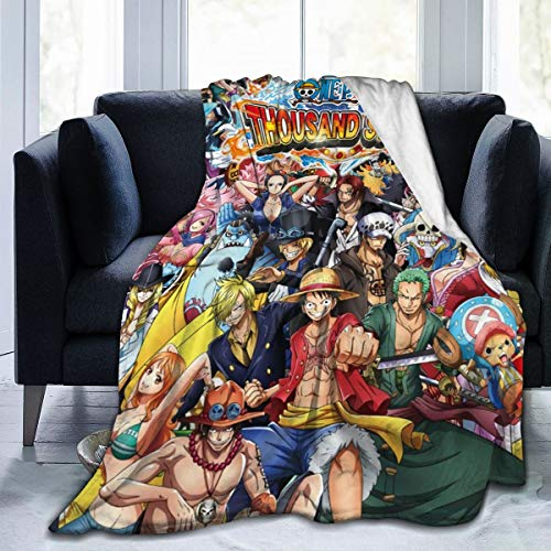 JooKrrix Decorative Extra Soft Flannel Fleece Blanket Lightweight Shaggy Luxury Throw Blanket One Piece Japanese Anime Comfy Microfiber Throw Couch Cover for Sofa Bed Living Room