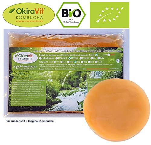 Original-Kombucha-Teepilz Premium Qualität + Bio-Kombucha-Getränk für 3 L, Anleitung + Anwuchsgarantie. Aus dem Heilbad Bad Kohlgrub.