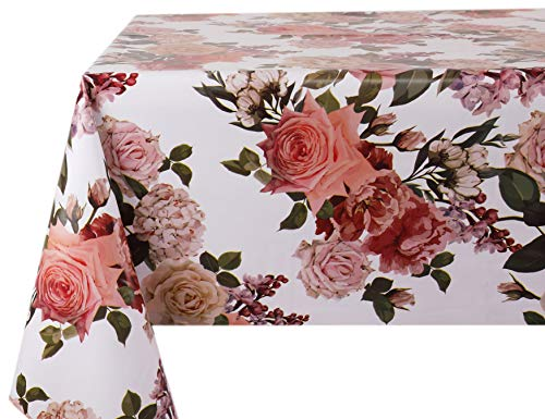 Vinylla Roses - Tovaglia in PVC, facile da pulire, PVC, 140 x 240 cm
