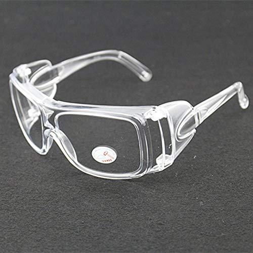 Brillenbril voor voorruit, motorfiets, accu, zand en stofbescherming, bescherming van het werk, volledig transparant, voor voorruit Transparent + Étui À Lunettes