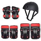Conjunto de Equipo de protección para niñosM Skate Scooter Balance Bike Skate Roller Skate Protector Set Child Helmet Protector 7 Piece Set