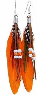 CASSIECA 36 Paires de Boucles doreilles Pendantes Bijoux Fantaisie Mode pour Femmes Filles Boucles doreilles Boh/ème en Bronze Argent/é Vintage avec Perle Feuille Turquoise Cadeaux Danniversaire