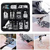 Presser Feet Set 11Pcs Snap On Sewing Machine Foot for Brother Singer Janome