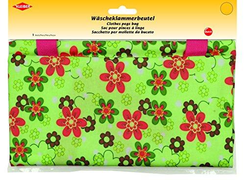Kleiber Wäscheklammerbeutel, Stoff, grün, 27.5 x 29 x 1 cm