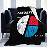 JXXO Knowing is Half The Battle, Distressed from GI Joe Plush Blanket Printed Ultra-Soft Micro Fleece Blanket for Couch Bed Living Room.