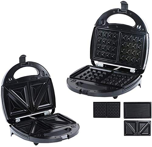 Tostadoras de sándwich Máquina tostadora para hacer gofres, máquina multifunción para el desayuno, cocina para el dormitorio, máquina para hacer pan, revestimiento antiadherente, bandeja para hornear