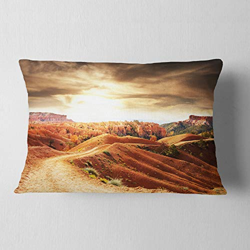 Designart Beautiful View Of Bryce Canyon African Landscape Printed Throw Lumbar Cushion Pillow Cover For Living Room Sofa 12 In X 20 In Shefinds