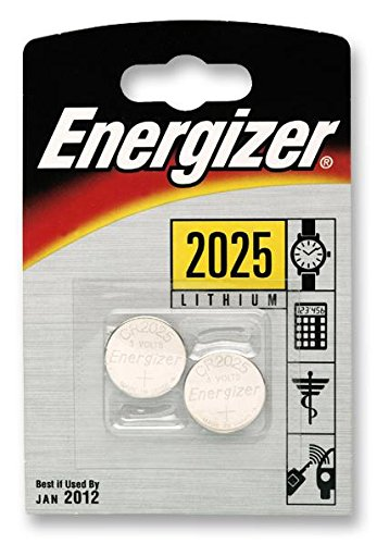 Preisvergleich Produktbild BATTERY,  LITHIUM COIN CR2025 2PK 626981 By ENERGIZER