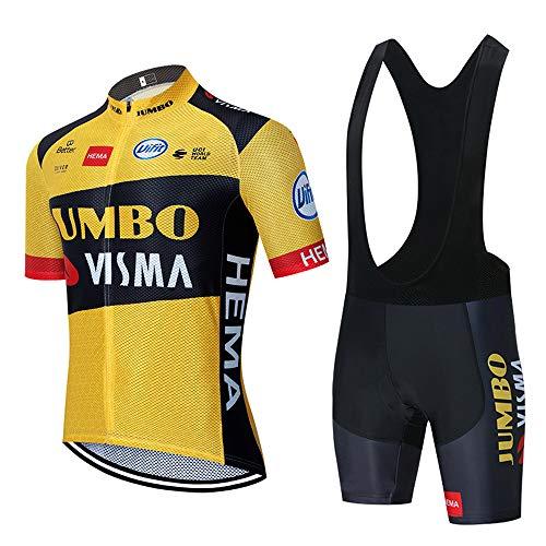 Maillot Ciclismo Verano Hombre Manga Corta y 3D Gel Acolchado Culotes Pantalones Ciclismo Ropa Verano Primavera