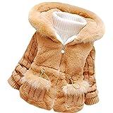 MINKIDFASHION Baby Girls Winter Autumn Warm Jacket Coat (US Size 2T, Brown)