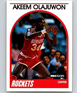 1989-90 Hoops #180 Hakeem Olajuwon Rockets NBA Basketball