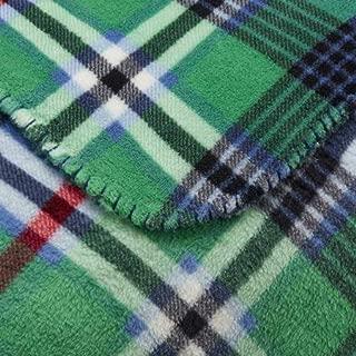 Mainstay Green Plaid Plush Throw Blanket 50 x 60