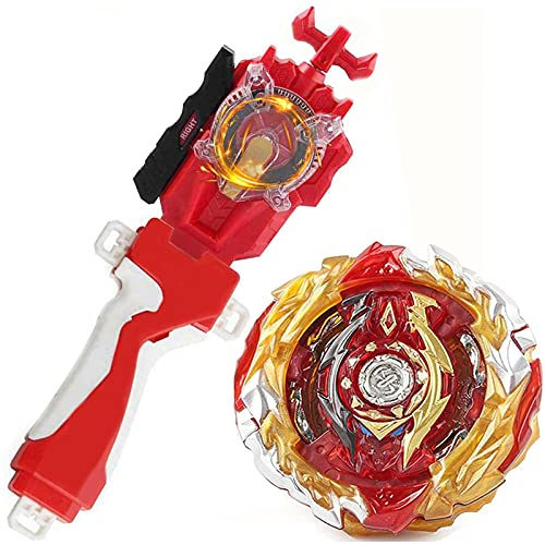 Battling Sparking String Launcher, World Spriggan Top Burst Launcher Set, Left and Right Spin String Launcher Grip Compatible with All Bey Burst Series - Red