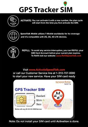 SpeedTalk Mobile GPS Tracker SIM Card Starter Kit | 3 in 1 Universal SIM: Standard, Micro, Nano for Kids Senior Pet Car Activity 5G 4G LTE Tracking Devices